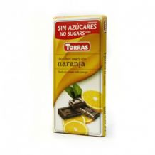 Torras No Added SugarDark Chocolate Bar With Orange 75g